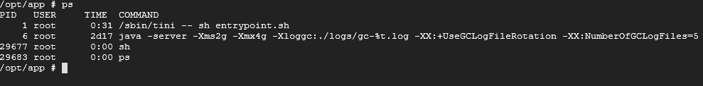 Java process non-root PID in docker container